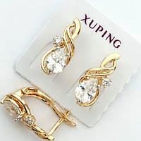 Нежные серьги позолота Xuping