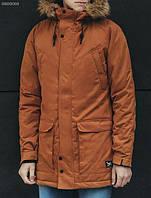 Зимняя мужская куртка парка Staff dark brown