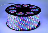 LED 5050 M RGB 100m 220V гирлянда разноцветная. ЛЭД лента. светодиодная лента лед