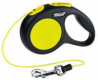 Flexi  Neon XS (3м, до 8кг, трос)  рулетка - поводок для собак