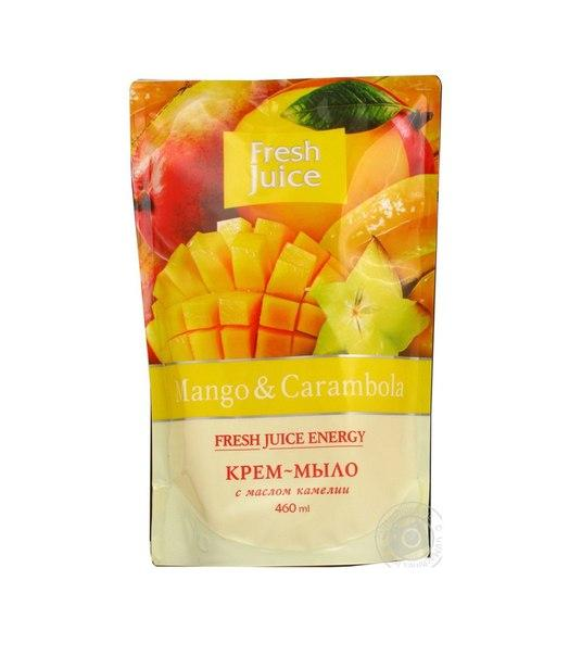 "Запаска Fresh Juice Крем-мыло с маслом Камелии ""Манго и Карамбола"" 460 ml"
