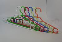 Детские цветные плечики вешалки 28,5см пластиковые польские