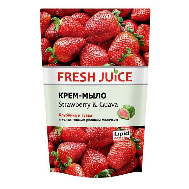 """Fresh Juice"" Жидкое крем-мыло STRAWBERRY & GUAVA 460 МЛ."