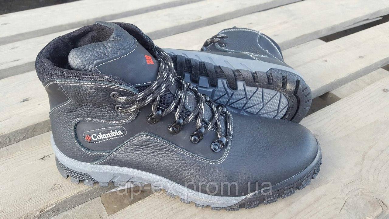 Мужские Зимние Кожаные Ботинки Columbia Black 41 Реплика — в ... 952d8cf8a87