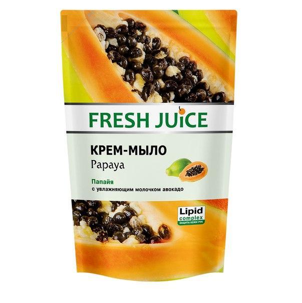 """""""Fresh Juice"""" Жидкое крем-мыло 460 МЛ. с увлажняющим молочком авокадо Papaya (папайя"""