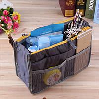 Органайзер в сумку многофункциональный Bag in Bag Grey (28*17*8,5 см) top-0106