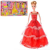 """Игровой набор для девочки """"Кукла с нарядами и аксессуарами"""" 988-01B"""