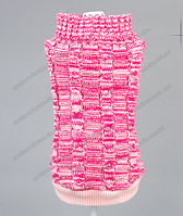 Свитер для собаки розовый меланж