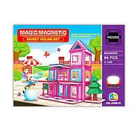 Детский магнитный конструктор «Светящийся домик» JH8819