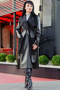 """Женское пальто из экокожи """"Барселона"""""""