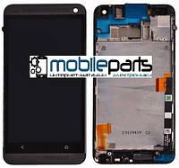 Оригинальный  Дисплей (Модуль) + Сенсор (Тачскрин) для  HTC 802w One M7 Dual Sim (С рамкой) (Черный)