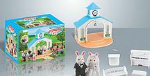 Карета-домик с котятами и лошадкой Happy Family 012-05