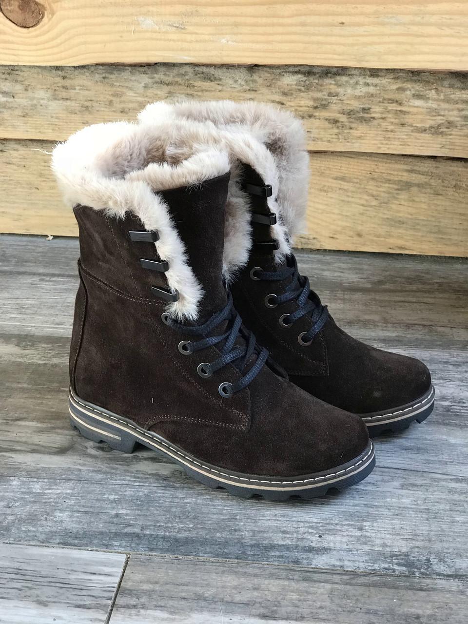 Ботинки №412-2 коричневый замш