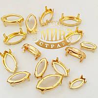 Золотые цапы, Лодочка, 6х12 мм, 1 шт