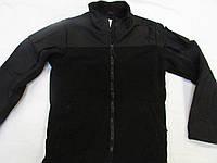 Куртка флисовая с накладками на плечах и рукавах