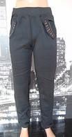 Женские зимние штаны на флисе черные