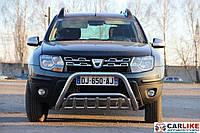 Кенгурятник Renault Duster 2008+ (WT002 нерж)