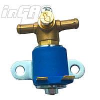 Электромагнитный клапан бензина YOTA, вход D6 мм, выход D6 мм, (метал. штуцер)