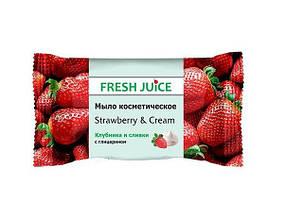 "Fresh Juice Мило косметичне ""Полуниця і вершки"" 75 грам"