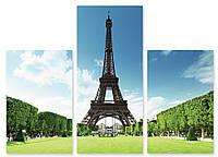 Модульная картина 3D Эйфелева Башня