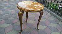 Цветочный столик из бронзы с мраморной столешницей. Подставка.