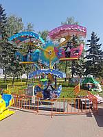 Детское колесо обозрения с навесами Лукошко-3 - парковый аттракцион карусель детское колесо обозрения