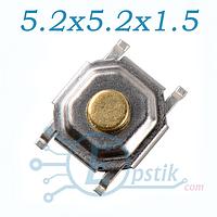 Кнопка тактовая 5.2x5.2x1.5 мм. 4Pin SMD