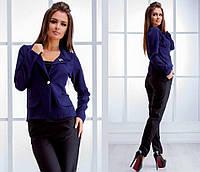 Пиджак, ткань: Турецкая стрейч костюмка в комплекте брошь цвет:т.синий, чёрный,бордо,красный. нвин№337