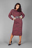 Платье женское красный меланж