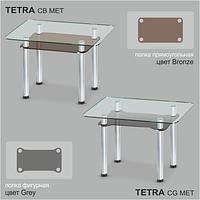 Стеклянный обеденный стол Tetra C-G