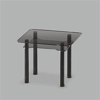 Стеклянный обеденный стол Тetra mini G-G Bl