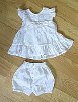 Батистовое платье и шортики для малышки (рост 62, 80)