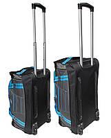 Комплект сумок на колесах (60+50 см) 2 в 1 блакитний