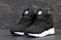Ботинки мужские Nike Air Huarache Winter (черно-белые), ТОП-реплика, фото 1