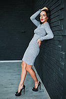 Невероятно красивое платье рубчик с люрексом