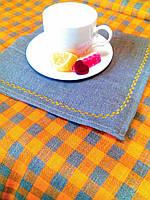 Комплект столового белья р.3 цвет 2 (скатерть 144*250 1шт., салф. 45*45 - 6шт.)100%лен
