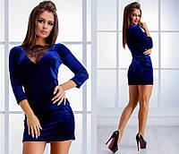 Платье Ткань Бархатистый королевский велюр Кружево французское дорогое!!! Цвет  черный, f14a9709a4d