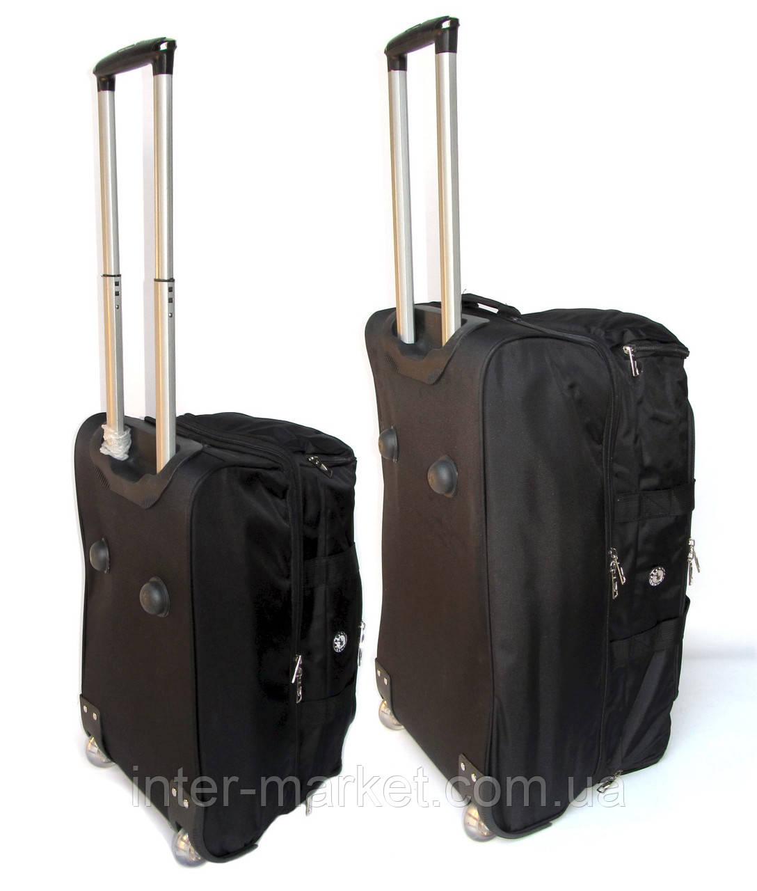 Комплект сумок на колесах (60+50 см) 2 в 1 коричневый, фото 1
