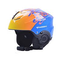 Детский горнолыжный шлем Moon для катания на лыжах и сноуборде. Размер S