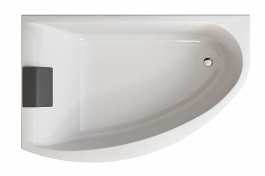 Ванна асимметричная Kolo MIRRA 170*110 см, правая, с ножками, элементами крепления и подголовником - santehniks-kiev в Киеве