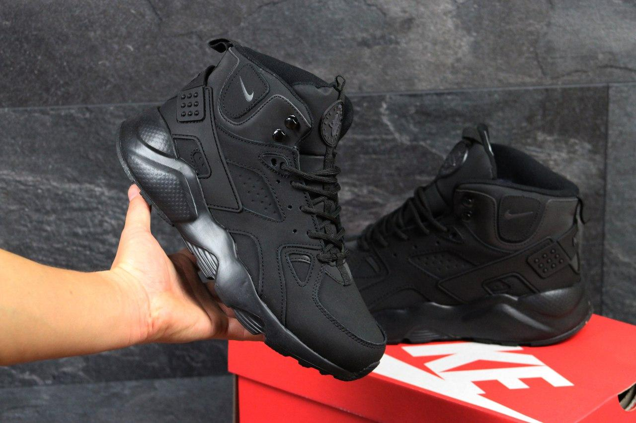 Ботинки мужские Nike Air Huarache Winter (черные), ТОП-реплика