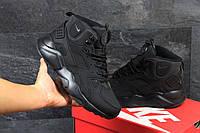 Ботинки мужские Nike Air Huarache Winter (черные), ТОП-реплика, фото 1