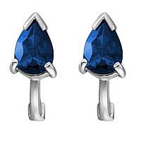 Серьги из серебра с куб. циркониями  177134 синий