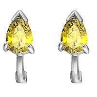 Серьги из серебра с куб. циркониями  177134 желтый