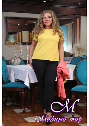 Черные женские брюки большого размера (р. 48-90) арт. Фабия, фото 2