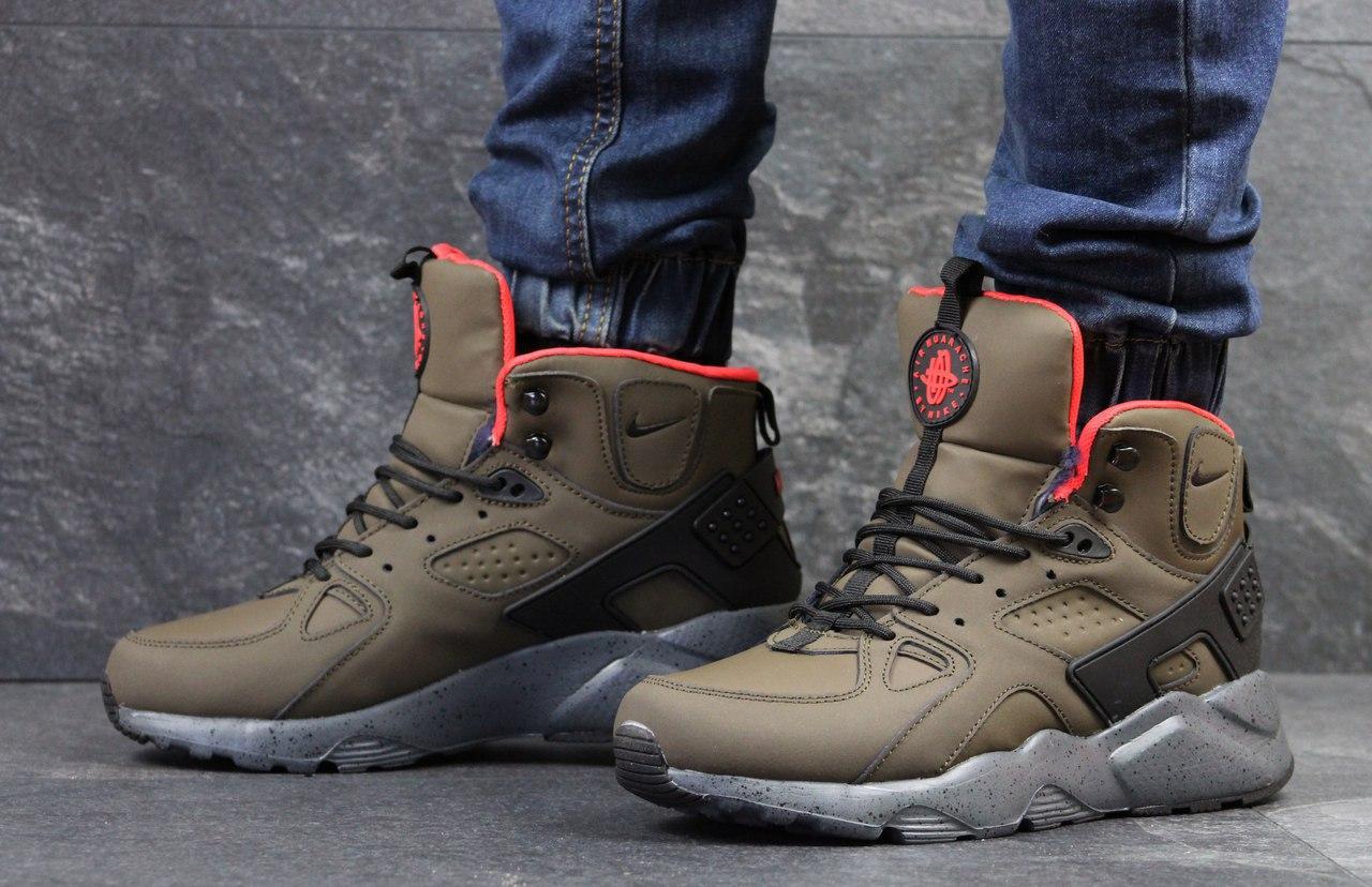 Ботинки мужские Nike Air Huarache Winter (коричневый), ТОП-реплика