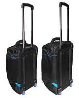 Комплект сумок на колесах (60+55 см) 2 в 1 CATESIGO черно-голубой