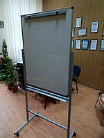 Флипчарт для маркера или мела 75х100 см на подставке двухсторонний на колесах