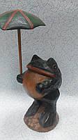 Статуэтка лягушка с зонтиком высота 33 см