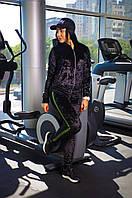 Бархатный спортивный костюм женский с лампасами